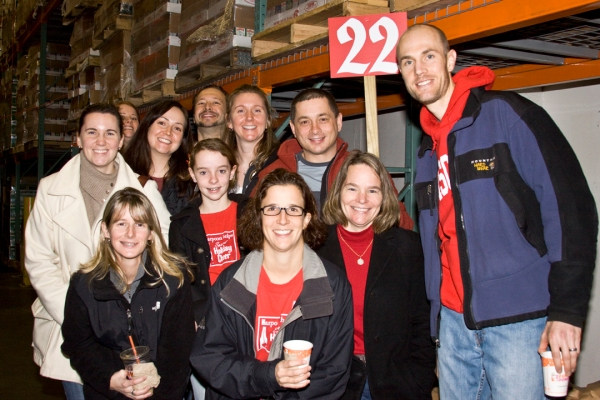 Team 22, led by Harpoon brewer Jaime Schier (middle, in red jacket), is ready to go!